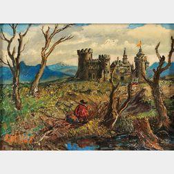 David Davidovich Burliuk (Russian/American, 1882-1967)      Medieval Castle