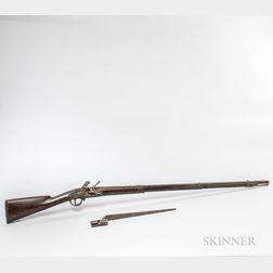 Model 1795 Harpers Ferry Type II Flintlock Musket and a Bayonet