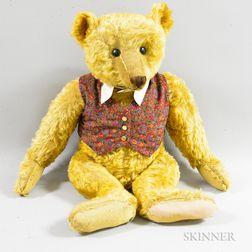 Large English Ginger Mohair Teddy Bear