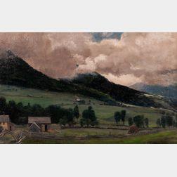 Edwin Burrage Child (American, 1868-1937)      Hillside Landscape
