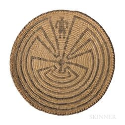 Miniature Southwest Coiled Basketry Tray