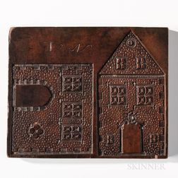 Carved Gingerbread House Board
