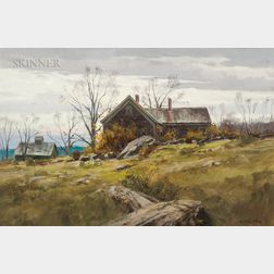 Paul Strisik (American, 1918-1998)      Old Farm, Vermont