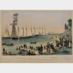 Currier & Ives, publishers (American, 1857-1907)      THE NEW YORK YACHT CLUB REGATTA.