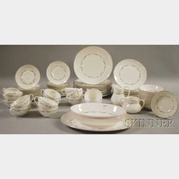 Eighty-two-piece Royal Doulton Coronet Pattern Porcelain Dinner Service.