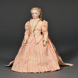 Bisque Head Lady Doll by Bru