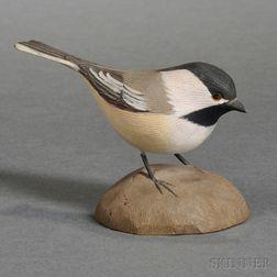 Jess Blackstone Miniature Carved and Painted Chickadee Figure