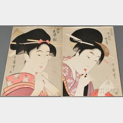 Two Woodblock Prints of Bijingas