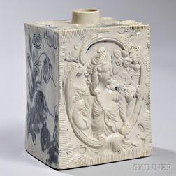 White Salt-glazed Stoneware Tea Canister