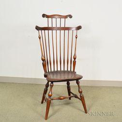 Wallace Nutting Turned Maple Fan-back Windsor Side Chair