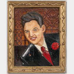 Mack Baker (Texas, 20th Century)      Son  /Portrait of a Man with a Red Carnation