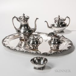 Jose Marmalejos Six-piece Sterling Silver Coffee and Tea Service