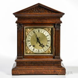 Winterhalder & Hofmeier German Oak Shelf Clock