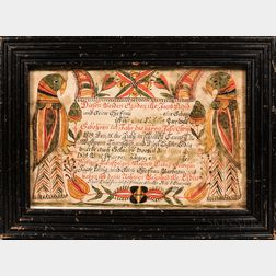 Fraktur for Jacob David
