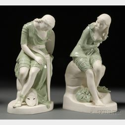 Pair of Minton Parian Figures