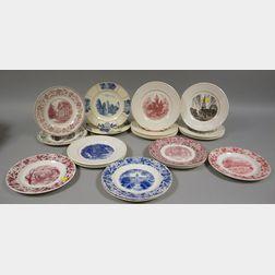 Twenty-three Assorted Wedgwood University and College Ceramic Plates