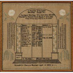 Needlework Family Record Sampler