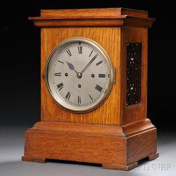 R. & W. Sorley Oak Mantel Clock