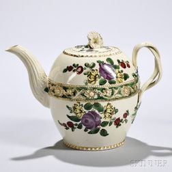 Creamware Teapot and Cover