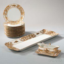 Limoges Porcelain Fish Set