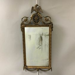 Neoclassical Carved and Gilt-gesso Mirror.     Estimate $600-800