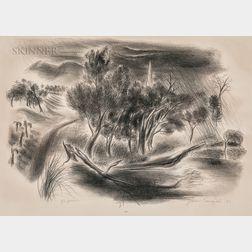 Yasuo Kuniyoshi (Japanese/American, 1893-1953)      The Shower