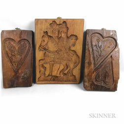 Three Carved Cookie Boards