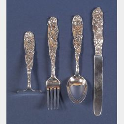 Four Tiffany & Co.  Sterling Child's Flatware Items