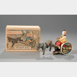 "Lehmann ""Balky Mule"" Lithographed Tin Toy in Original Box"