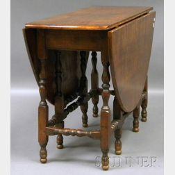 William & Mary Walnut Drop-leaf Gate-leg Table