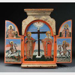 Greek Provincial Triptych Icon