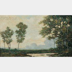 Arthur Hoeber (American, 1854-1915)      Summer Landscape