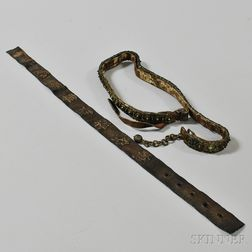 Two Metalwork Belts