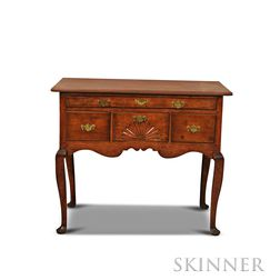 Queen Anne Carved Maple High Chest Base