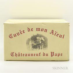 Pierre Usseglio Chateauneuf du Pape Mon Aieul 2005, 6 bottles (oc)