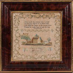 Needlework Mary E. Williams Sampler
