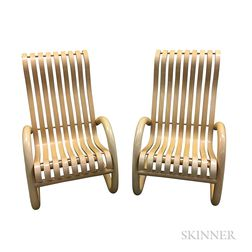 Two Modern Bentwood Rockers