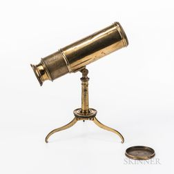 Miniature Dollond Lacquered Brass Telescope