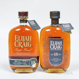 Elijah Craig Single Barrel 18 Years Old, 2 750ml bottles