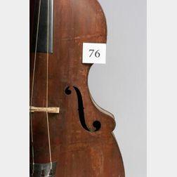 American Three-String Contrabass, Abraham Prescott, Deerfield, c. 1830