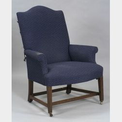 Federal Mahogany Upholstered Easy Chair