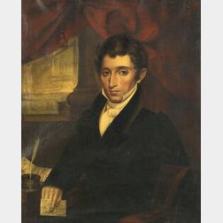 Attributed to William Willard (Sturbridge and Boston, 1818-1904)  Portrait of Alfred Richardson (1793-1851)