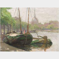 Lee Lufkin Kaula (American, 1865-1957)  Leidschekade  /Amsterdam, Holland