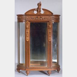 Renaissance Revival Oak Display Cabinet