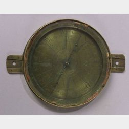Part of a Boston Colonial Brass Surveyor's Compass by John Dupee