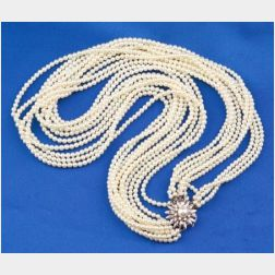 Cultured Pearl Torsade Necklace, Mikimoto