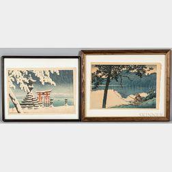 Two Kawase Hasui (1883-1957) Woodblock Prints
