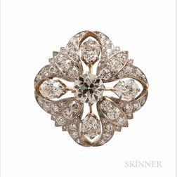 Edwardian Tiffany & Co. Diamond Brooch/Pendant