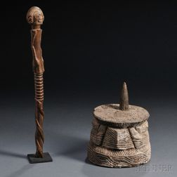 Two African Wood Items