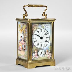 Enameled Carriage Clock